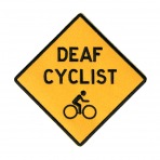 DEAF CYCLIST + BIKELOGO :: PATCH