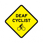 .DEAF CYCLIST + BIKELOGO :: STICKER