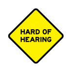 .HARD OF HEARING :: STICKER