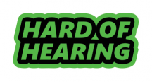 HARD OF HEARING :: FLUORESCENT GREEN STICKER