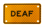 DEAF :: PLATE Yellow-Orange Diamond Grade