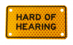 HARD OF HEARING :: PLATE Yellow-Orange Diamond Grade