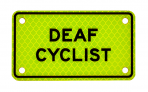 DEAF CYCLIST :: PLATE Yellow-Green Diamond Grade