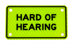 HARD OF HEARING :: PLATE Yellow-Green Diamond Grade
