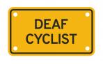 DEAF CYCLIST :: PLATE