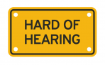 HARD OF HEARING :: PLATE <br /> (out of stock temporarily)