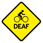 .BIKELOGO + DEAF :: STICKER FLUORESCENT