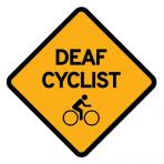 .DEAF CYCLIST + BIKELOGO :: STICKER