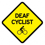 .DEAF CYCLIST + BIKELOGO :: STICKER FLUORESCENT