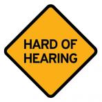 .HARD OF HEARING :: STICKER