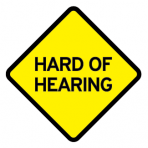 .HARD OF HEARING :: STICKER FLUORESCENT